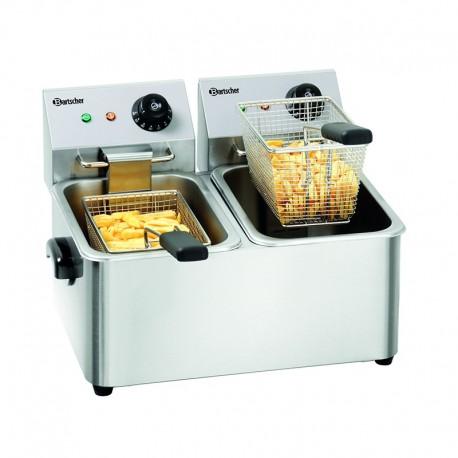 Fryer double 4 + 4 lt electric A162412E Bartscher