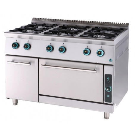 Gas cooker 6 ranges with oven and cabinet FC6FS7-LINE 750