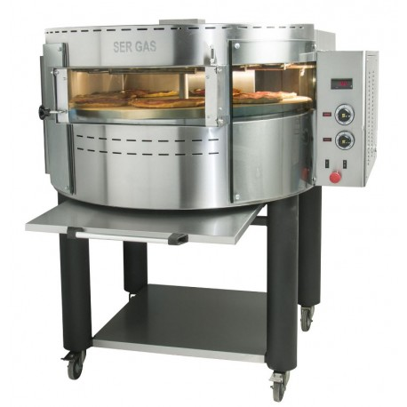 Electric pizza oven with rotating deck and base RPE1