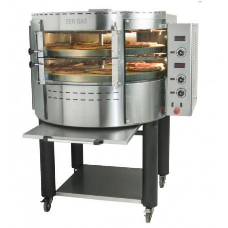 Φούρνος πίτσας ηλεκτρικός με περιστρεφόμενες πλάκες και βάση RPE2