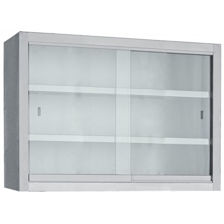 Wall Cupboard With Glass Sliding Doors
