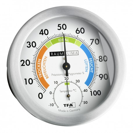 Analogue Thermo-Hygrometer with Metal Ring TFA 45.2028